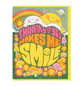Lucky Horse Press Card  Thinking Of You Makes Me Smile