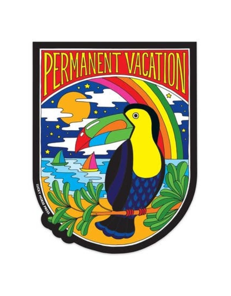 Lucky Horse Press Sticker Permanent Vacation