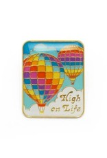 Lucky Horse Press Enamel Pin High On Life
