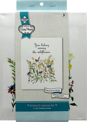 """needle creations Needle Creations Kit Embroidery Canvas 8""""x 10"""" Wildflower"""