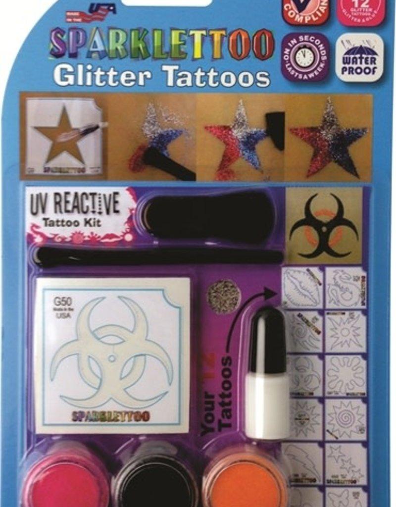 Ruby Red Body Glitter Kit UV Reactive