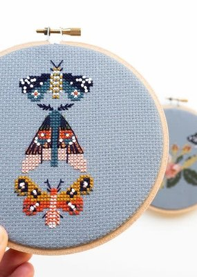 Junebug and Darlin Cross Stitch Kit Moths