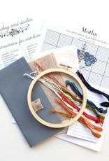 Junebug and Darlin Cross Stitch Kit Moths