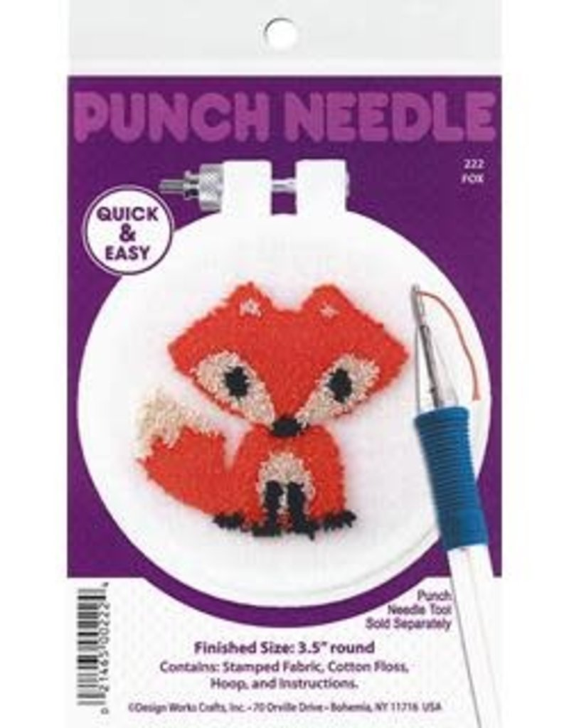 Design Works Crafts Inc. Punch Needle Kit Fox