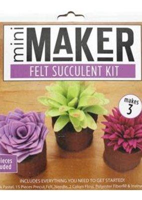 Leisure Arts Mini Maker Felt Succulent Kit Multi