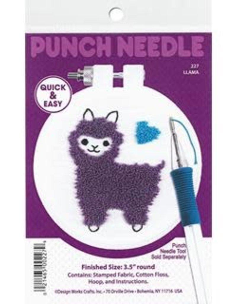 Design Works Crafts Inc. Punch Needle Kit Llama