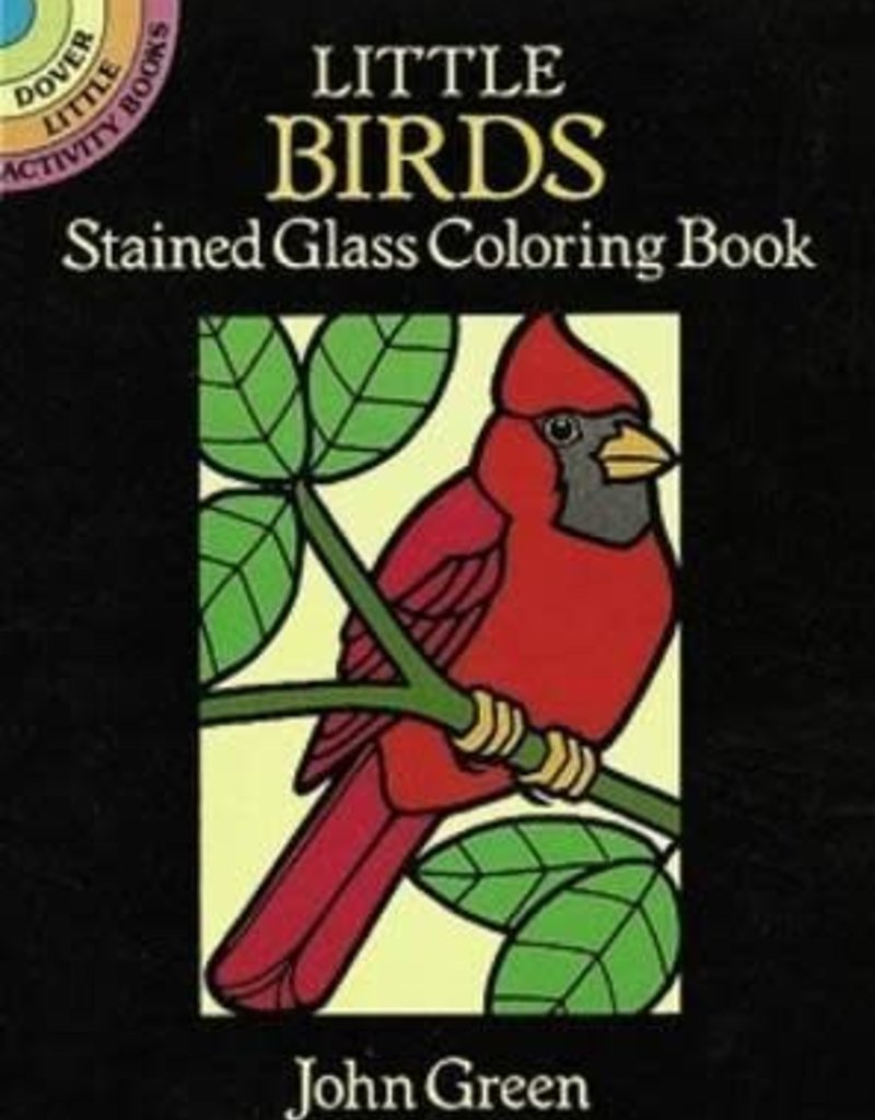 Dover Coloring Book Little Birds Stained Glass