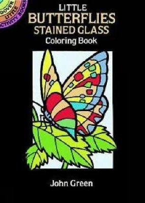 Dover Coloring Book Little Butterflies Stained Glass