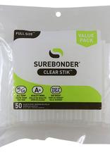 "Surebonder Hot Glue Gun Sticks 4"" Full Size All Temp 50pc"