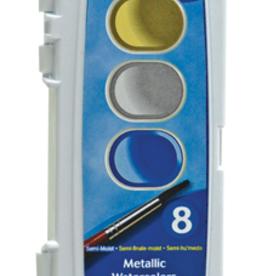 Prang Metallic Washable Watercolor 8 Color Set