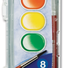 Prang Washable Watercolor 8 Color Set With Brush