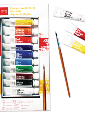 Savoir-Faire Savoir-Faire Opaque Watercolor Gouache Set of 10