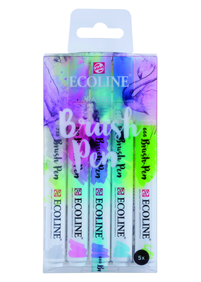 Ecoline Ecoline Watercolor Brush Pen Pastel Set of 5