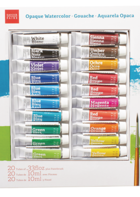 Savoir-Faire Savoir-Faire Opaque Watercolor Gouache Set of 20