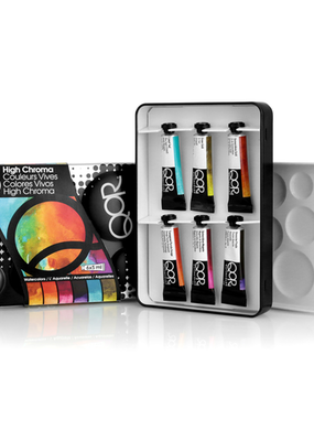 Qor Watercolor Introductory Sets 6 Color High Chroma Set 5ml Tubes