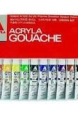 Holbein Acryla Gouache 12-Color 20ml Lesson Set