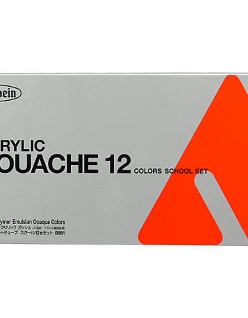 Holbein Acryla Gouache 12-Color 12ml Study Set
