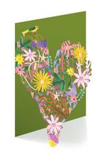 Roger La Borde Card Floral Heart Laser Cut