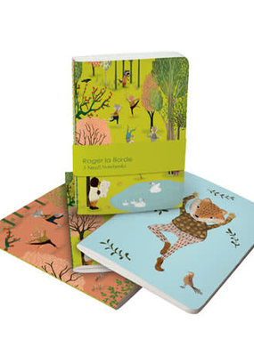 Roger La Borde Soft Cover Notebook Set of 3 Yoga in the Park