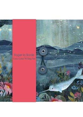 Roger La Borde Letter Writing  Set Dreamland Narwhal