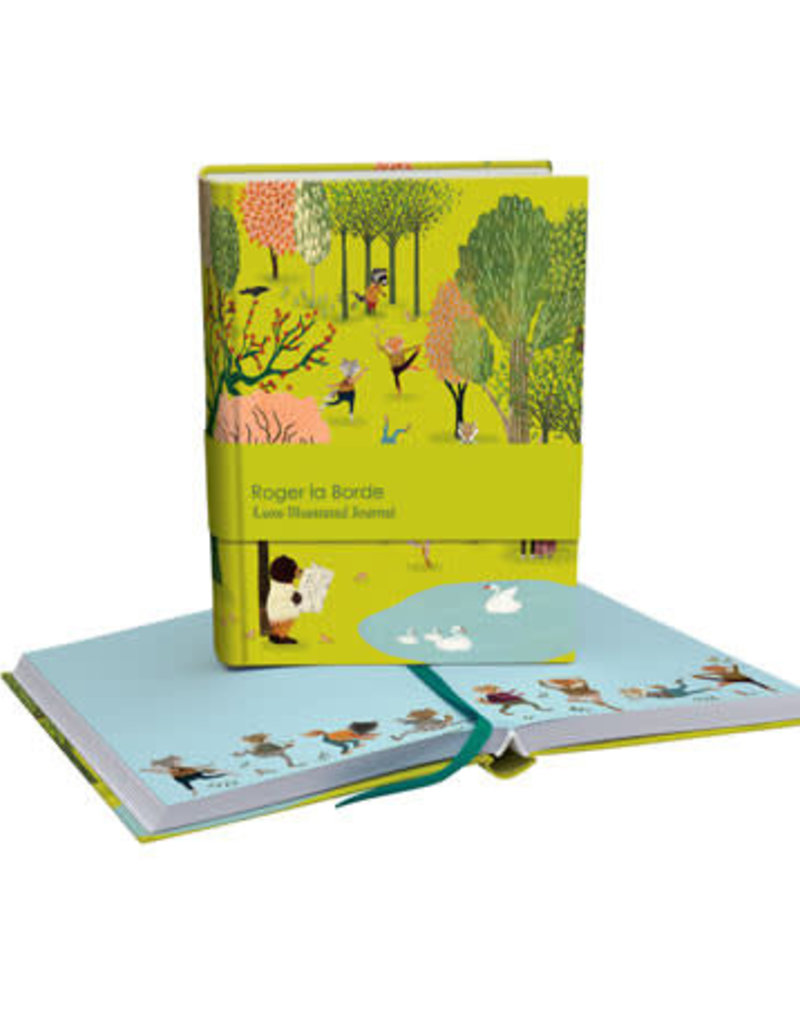 Roger La Borde Luxe Illustrated Journal Yoga in the Park Blank