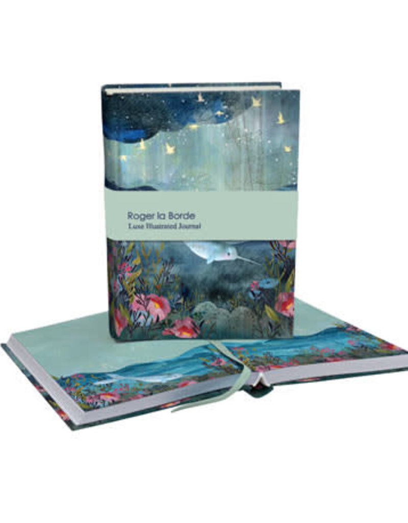 Roger La Borde Luxe Illustrated Journal Narwhal Blank