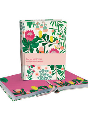 Roger La Borde Luxe Illustrated Journal King Protea Blank