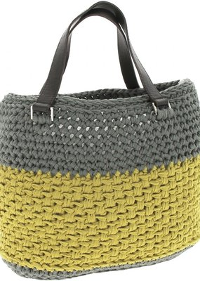 Hoooked Crochet Kit Valencia Bag Dried Herb