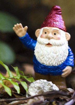 Safari Blue Gnome Figurine