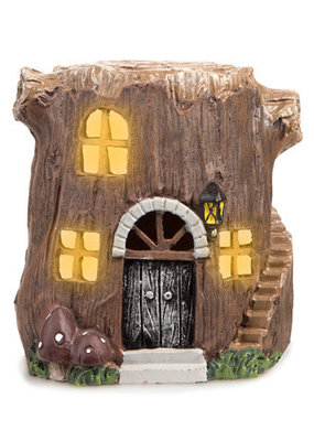 Darice Light Up LED Fairy Garden Tree Stump House