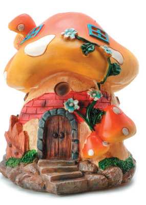 Darice Mushroom House Large Resin 6 x 5 Inches