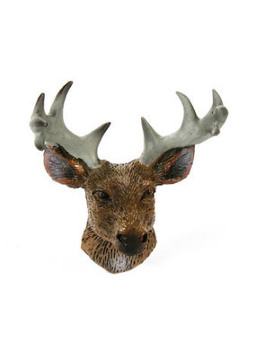 Timeless Minis Mini Deer Head with Antlers Resin