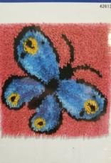 """Latch Hook Kit Butterfly 12""""X12"""""""