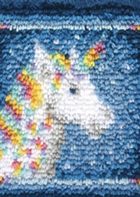 Wonderart Latch Hook Kit Unicorn