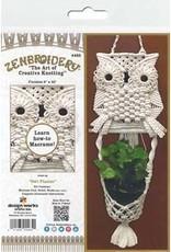 Design Works Crafts Inc. Zenbroidery Macrame Owl Planter Kit