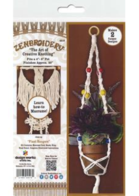 Design Works Crafts Inc. Zenbroidery Macrame Plant Hangers Kit