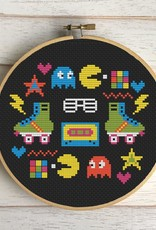 Spot Colors Cross Stitch Kit 80's Sampler Counted