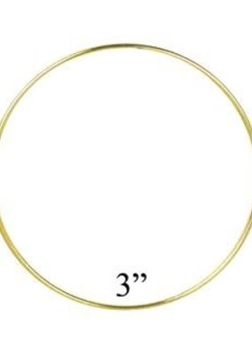 Darice Metal Ring Gold 3 Inches