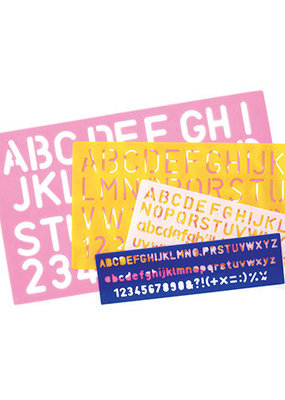 Darice Stencils Letter Combo Set 4 Pieces
