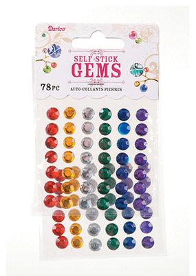 Darice Stick On Rhinestones Round Primary Colors 78 Pieces