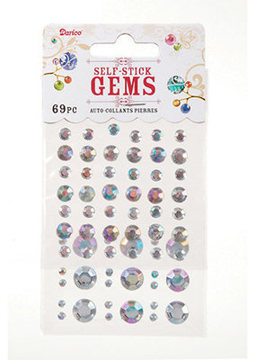 Darice Rhinestones Stick On Round Clear