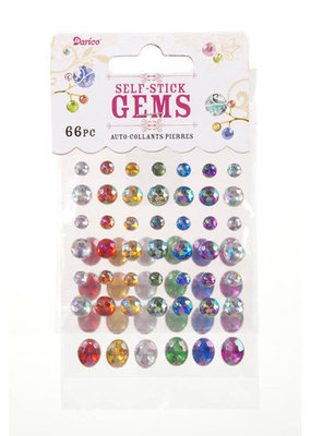 Darice Stick On Rhinestones Primary Colors 66 Pieces