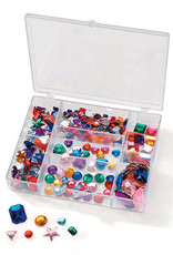 Darice Gems in a Box Multi Color Assorted Sizes 300 Pieces