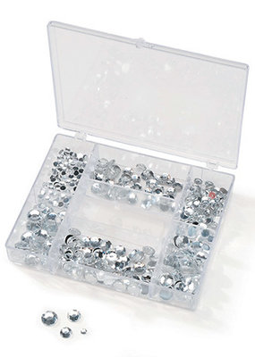 Darice Gems in a Box Crystal 300 Pieces