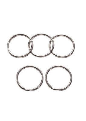 Darice Key Rings Nickel Plated Steel 32mm 30 Pieces