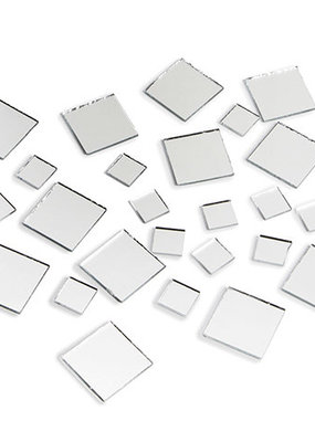 Darice Mirrors Square Assorted Sizes 25 Pieces