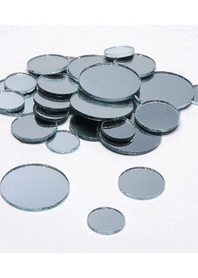 Darice Mirrors Round Assorted Sizes 25 Pieces