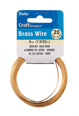 Darice Craft Wire 20 Gauge Brass 8 Yards