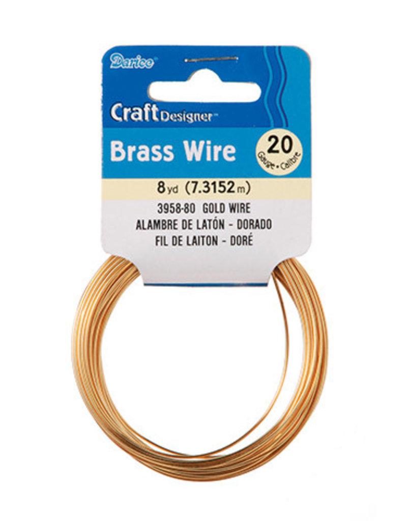 Darice Craft Wire 20 Gauge Brass 8 Yards