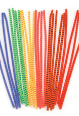 Darice Chenille Stems Striped Assorted Colors 25 Piece Pack